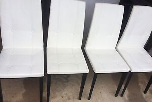 White leatherette chairs Bunglegumbie Dubbo Area Preview