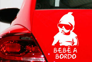 Sticker-Vinilo-BEBE-A-BORDO-Vinyl-Car-Tunnig-Pegatina-Coche