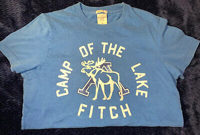 Abercrombie and Fitch Men's Small Blue Tshirt
