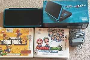 New Nintendo 2DS XL  with 3 Games