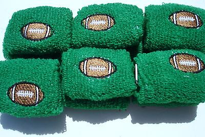 12 TERRY CLOTH FOOTBALLS WRIST BANDS  CARNIVALS, PARTY TOYS, FAVORS,