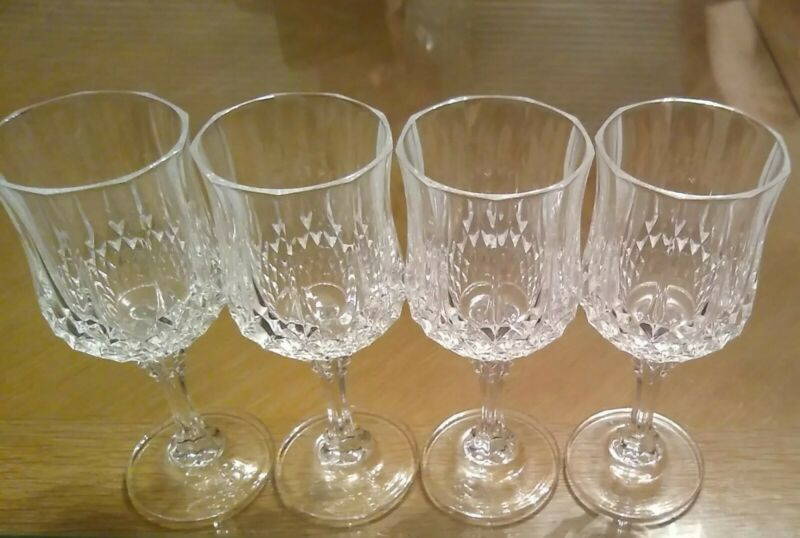 Crystal Wine Glasses - Vintage - Set of Four