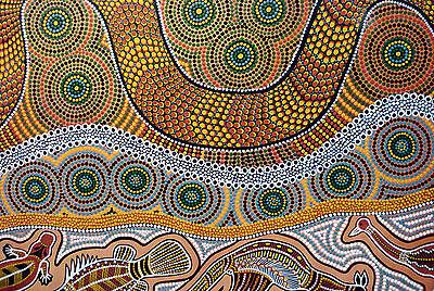 Framed Print - Australian Aboriginal Art (Cave Painting Picture Image Australia)