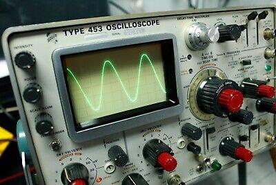 Tektronix Type 453 Oscilloscope Configured For Analog Waveform Display