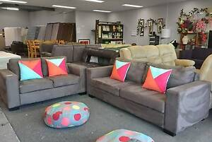 TODAY DELIVERY MODERN CHOCOLATE 2X Sofas set QUICK SALE Belmont Belmont Area Preview