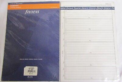 2 Packs Filofax Deskfax Addresses Classified Addresses Multi Language Ref 170209