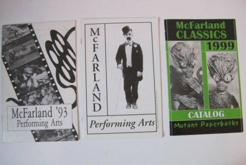McFarland Performing Arts Book Catalog Lot 1993 1995 1999 Movie Company Inc RARE