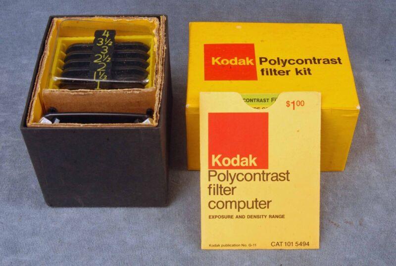 "KODAK POLYCONTRAST KIT MODEL A IN BOX W/""FILTER COMPUTER"""