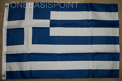 2'x3' GREECE FLAG OUTDOOR BANNER PENNANT GREEK HELLENIC REPUBLIC ATHENS NEW 2X3