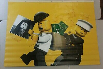 TOYS R US EXCLUSIVE LEGO VINYL BANNER MINI FIGURES COP AND ROBBER 4'X 3' - Lego Banner