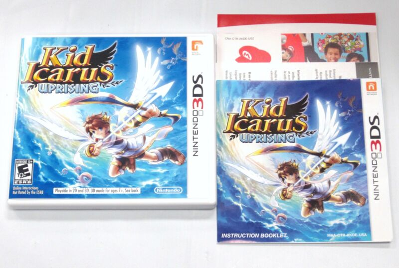Kid Icarus Uprising Case and Instruction Manual Booklet ONLY!!(3DS) *US VERSION*