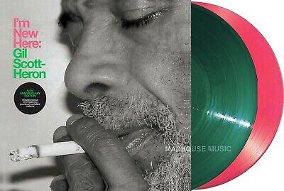 GIL SCOTT-HERON LP x 2 I'm New Here PINK & GREEN Vinyl 2020 +Bonus Trks IN STOCK