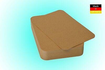 Premium Kraftpapier Kraftkarton DIN A4 / A5 / A6 / DL 225 / 300g/m² runde Ecken