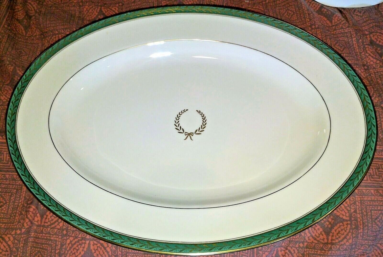 15 Oval Serving Platter Josephine Green By PICKARD - $30.00