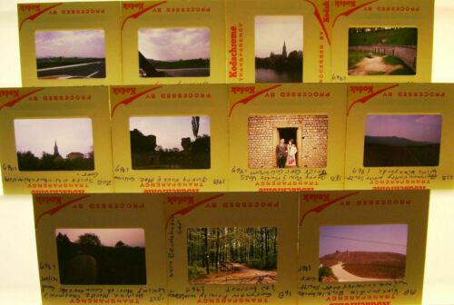 """11 COLOR SLIDES 35mm/2""""x2"""" GERMANY 1967 25"""