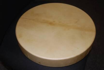 Medicine Drum with Beater - Handmade 15in Deer Hide
