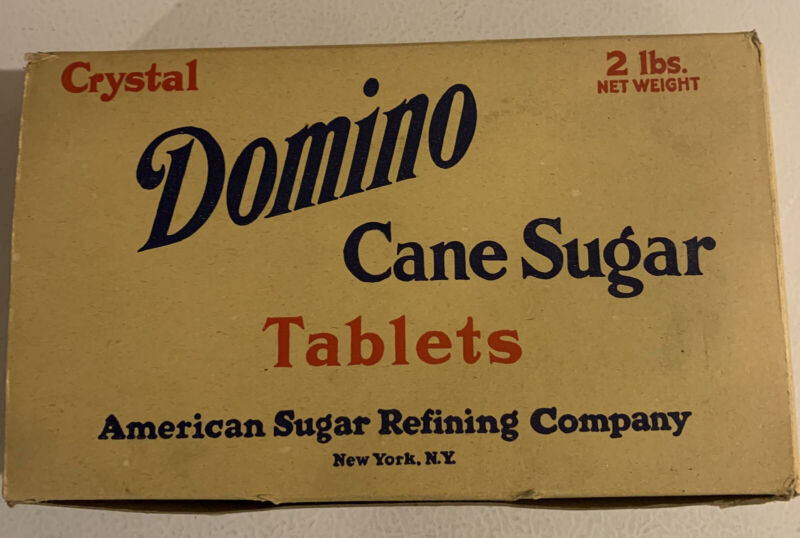 Vintage 1950s Case Of Domino Cane Sugar Tablets Full Unused Box NOS
