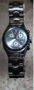 Swatch irony Chronograph mens watch steel
