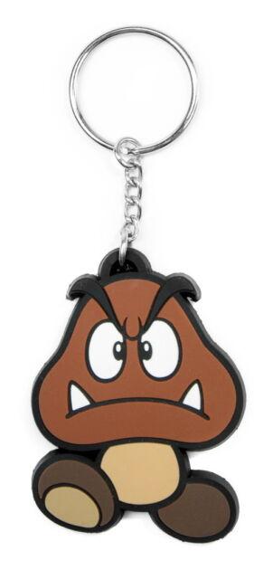 Goomba - Super Mario Bros - Gummi Schlüsselanhänger / keychain / keyring