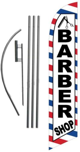 Barber YBR Feather Banner Swooper Flag Kit with pole+spike Barbeque