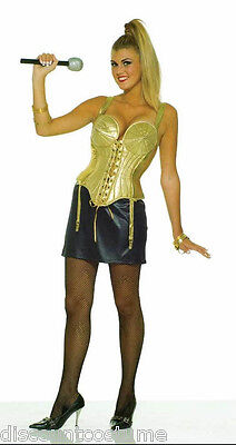 80's TO THE MAXX POP STAR MADONNA STYLE WOMEN'S HALLOWEEN COSTUME ADULT SIZE M/L