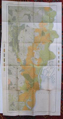 US SLAVE MAP 1861 AL Meridianville Millbrook Mobile Monroeville Montevallo LARGE