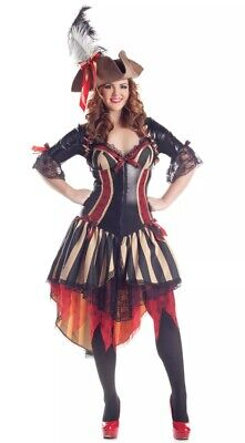 Sexy Party King Pirate Body Shaper Dress Costume Wench Plus Size 2X - Women's Plus Size Pirate Costume