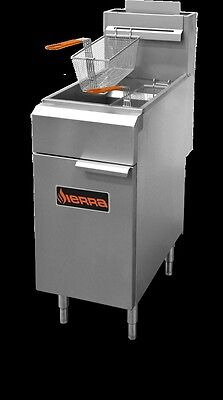 Sierra Srf-35-40 Commercial Restaurant 40 Lb Tube-fired Floor Gas Deep Fryer New