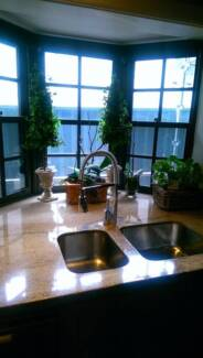 Kitchen Cabinets and Stone Benches