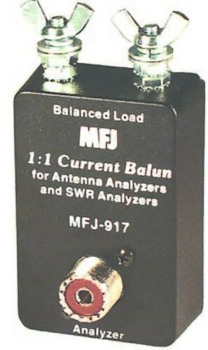 MFJ-917 HF (1.8 - 30MHz) 1:1 Current Balun for SWR and Antenna Analyzers