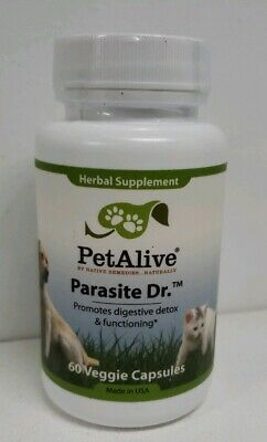 Parasite Dr. for Digestion Support in Dogs & CatsPet Alive Made in USA Homeopathic Remedies Pets