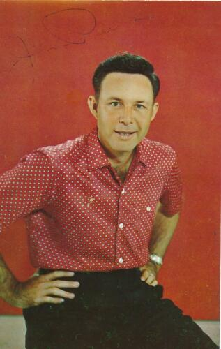 Jim Reeves- Color Signed Vintage Picture Postcard