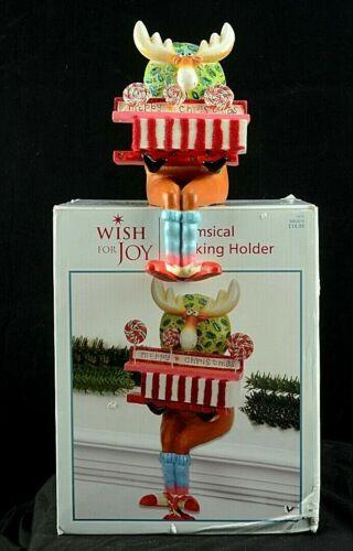 Christmas Whimsical Reindeer Stocking Holder