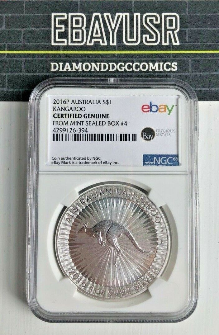 NGC Certified from Perth Mint Sealed Box 4! 2016 1oz Silver Kangaroo