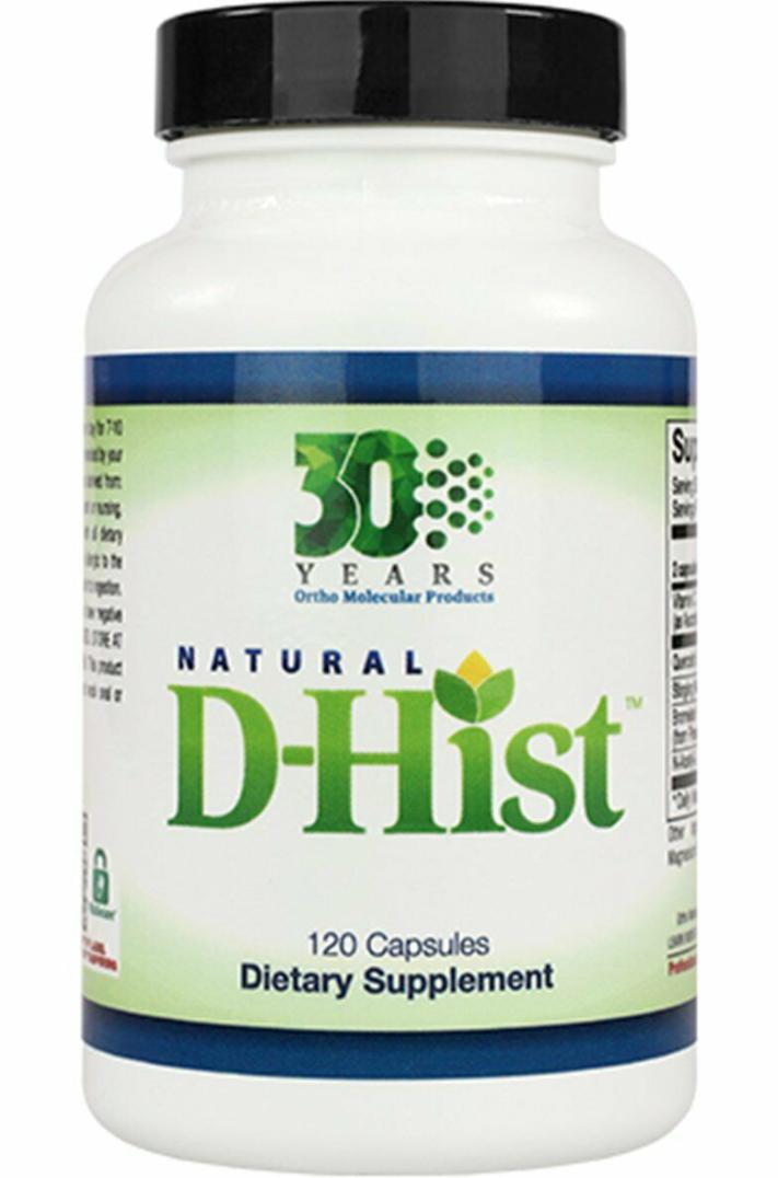 Ortho Molecular Products Natural D-HIST 120 caps