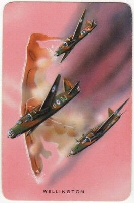 Playing Cards 1 Swap Card - Old Vintage VICKERS WELLINGTON WW2 RAF Bomber Plane