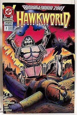 """HAWKWORLD"" Annual # 2 (1991) DC Comics/ Comic Book (HAWKMAN Spin-Off)"