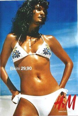 Original vintage poster SEXY SWIMSUIT H&M c.1995 Helena Christensen (2)