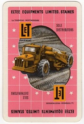 Playing Cards 1 Swap Card - Old ELTEE EQUIPMENTS Construction LET EARTHMOVER 2