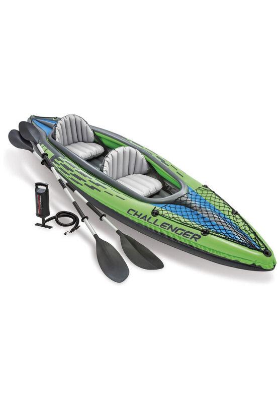 Intex Challenger K2 Kayak, 2-Person Inflatable Kayak Set🔥SHIPS FAST🔥