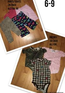 6-9 MONTH GIRL CLOTHING prices in pics