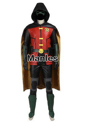 Justice League Teen Titans Costume Dick Grayson Robin Cosplay Nightwing Outfits - Teen Titan Robin Costume