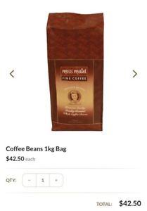 Miss Maude 1kg coffee beans RRP $42.50