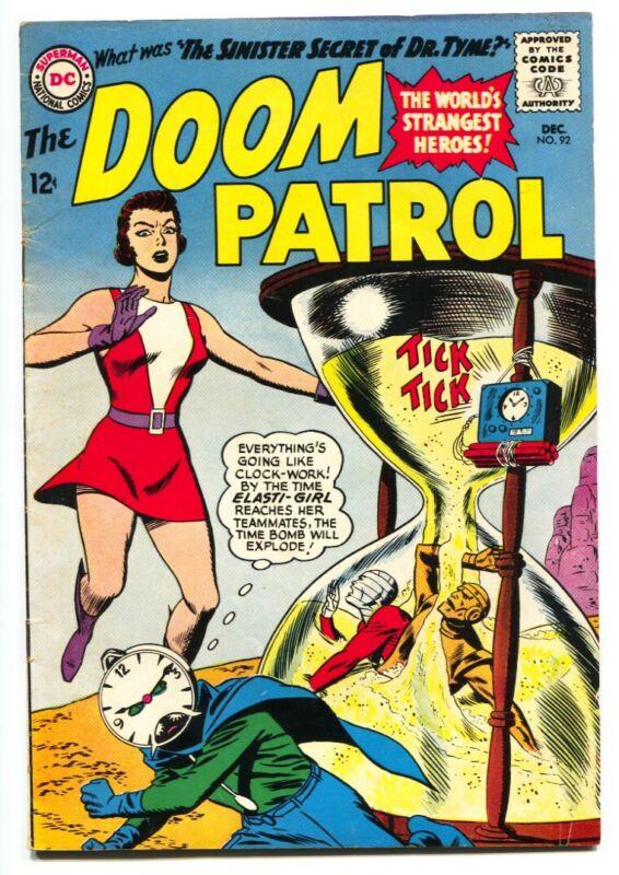 DOOM PATROL #92-1964-DC-HOUR GLASS COVER-VG+