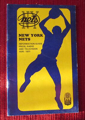 New York Nets 1970-1971 ABA Basketball Media Press Television Guide ORIGINAL (Net Tv Media)