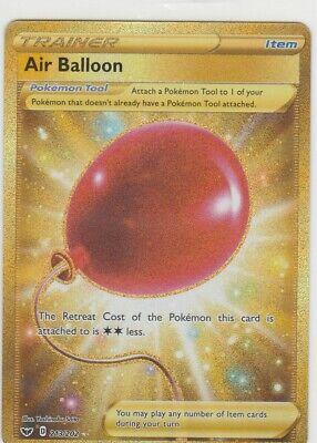 AIR BALLOON 213/202 Pokemon Sword & Shield GOLD SECRET RARE Trainer Full Art