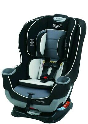 Graco Baby Extend2Fit Convertible Car Seat Infant Child Safety Gotham NEW