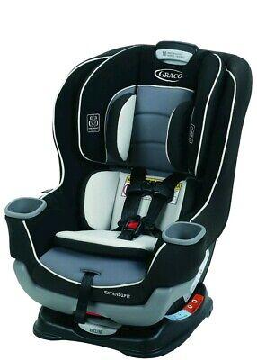 Seggiolino auto convertibile Graco Baby Extend2Fit Gotham Sicurezza dei bambini NUOVO