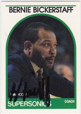 Bernie Bickerstaff Autographed 1989 NBA Hoops Basketball Card 269 Seattle Sonics