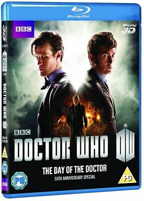 Doctor Who THE DAY OF THE DOCTOR 50th Anniv Special (2013) 3D + 2D Blu-Ray NEW